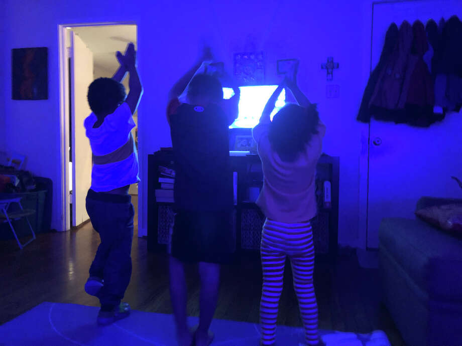 Kids really love yoga. And it really does help calm them down. Photo: Joey Guerra, Frida Villalobos