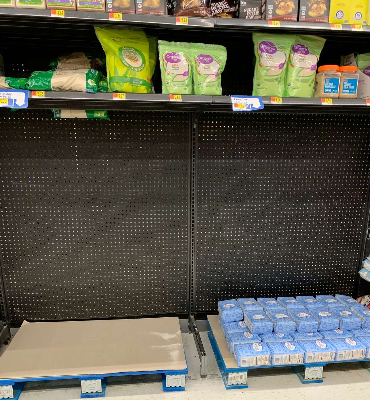 Local stores were selling out of toilet paper and disinfectant products, as well as other items Friday as shoppers prepared for a possible extended quarantine due to the coronavirus. Local stores were selling out of toilet paper and disinfectant products, as well as other items Friday as shoppers prepared for a possible extended quarantine due to the coronavirus.