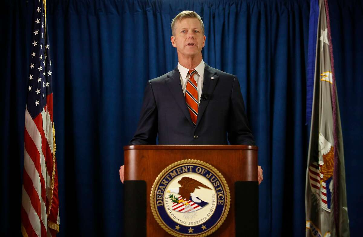 U.S. Attorney David L. Anderson speaks during a press conference regarding the law enforcement action regarding Mohammed Nuru and Nick Bovis at the Office of the United States Attorney on Tuesday, January 28, 2020 in San Francisco, Calif.