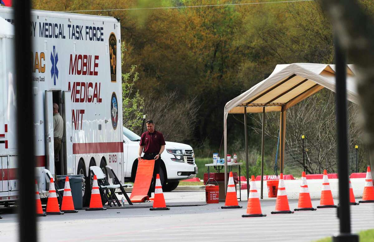 A drive up screening center has been set up in the Medical Center area for people who may be infected with the Coronavirus on Friday, Mar. 13, 2020.