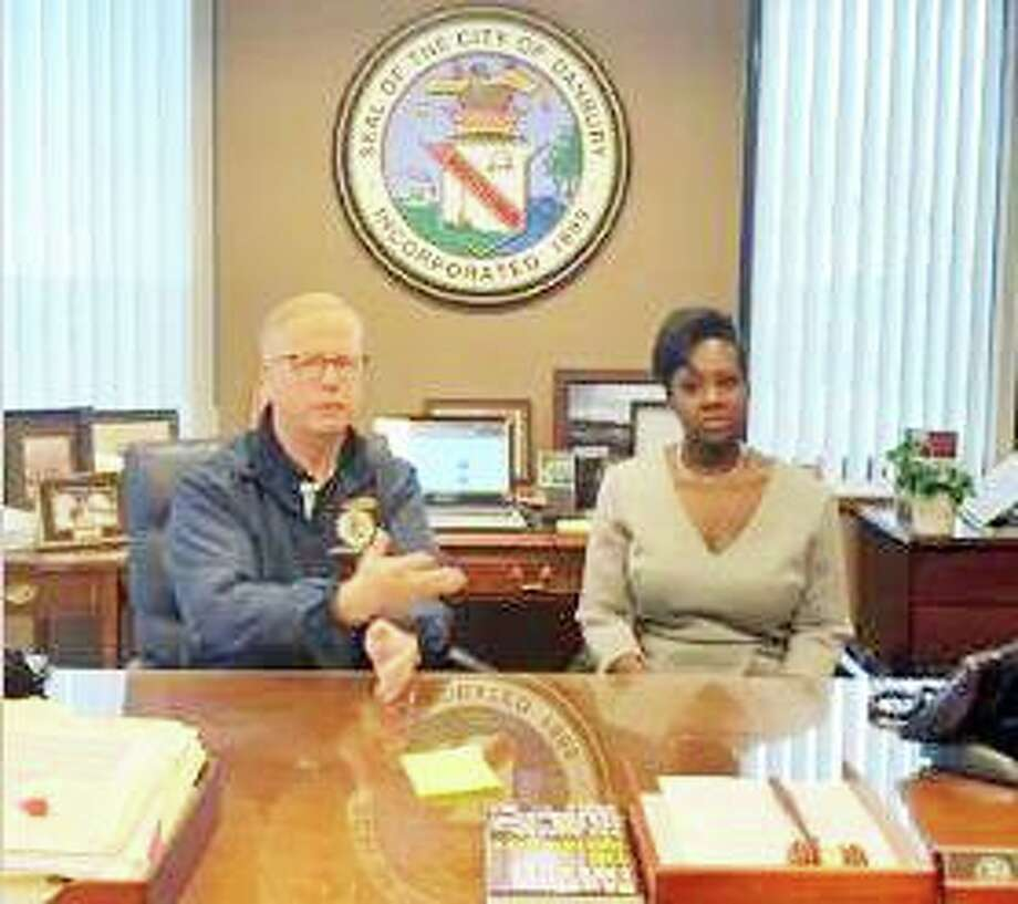 Danbury Mayor Mark Boughton and Lisa Morrissey, the city's director of health, update residents about the city's emergency response to the coronavirus public health crisis. Photo: City Of Danbury / Facebook