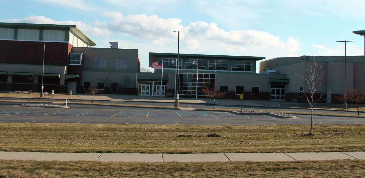 School parking lots across the State of Michigan will be as barren as the Manistee High School one after Michigan Gov. Grethcen Whitmer ordered all schools be closed until April 5 to prevent the spread of the coronavirus. (Ken Grabowski/News Advocate)