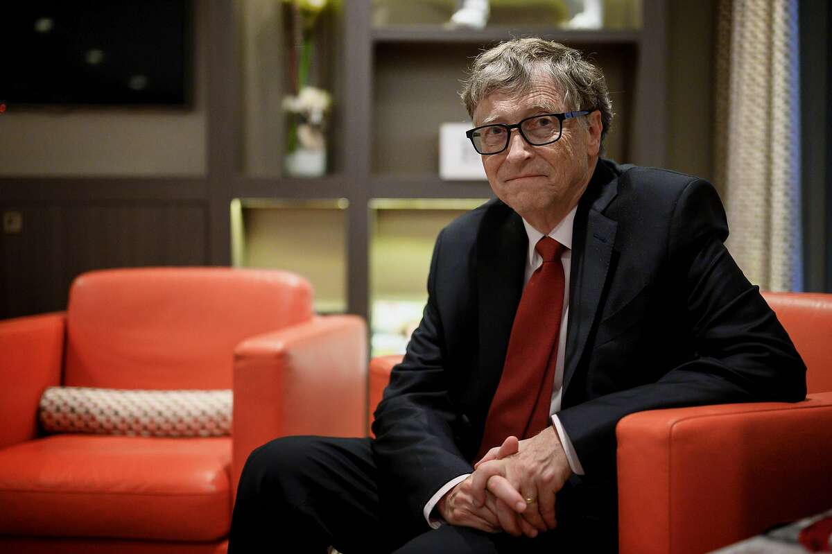 In this file photo US Microsoft founder, Co-Chairman of the Bill & Melinda Gates Foundation, Bill Gates, poses for a picture on October 9, 2019, in Lyon, central eastern France, during the funding conference of Global Fund to Fight AIDS, Tuberculosis and Malaria. - Microsoft on Friday announced that co-founder Bill Gates has left its board of directors to devote more time to philanthropy.
