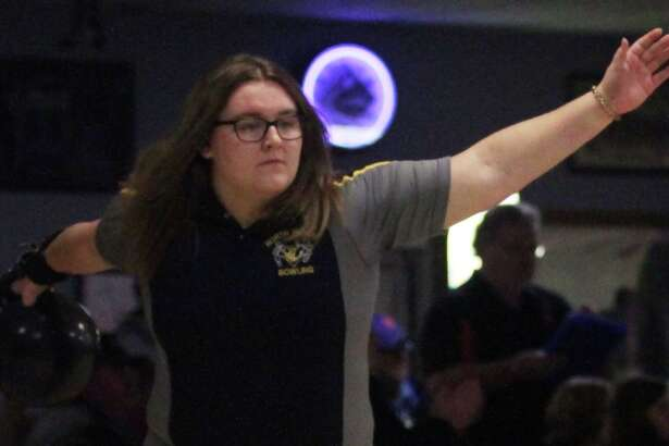 North Huron's Patricia Pineau closed her high school bowling career with a 931, which secured her spot in 39th place at the recent state finals.