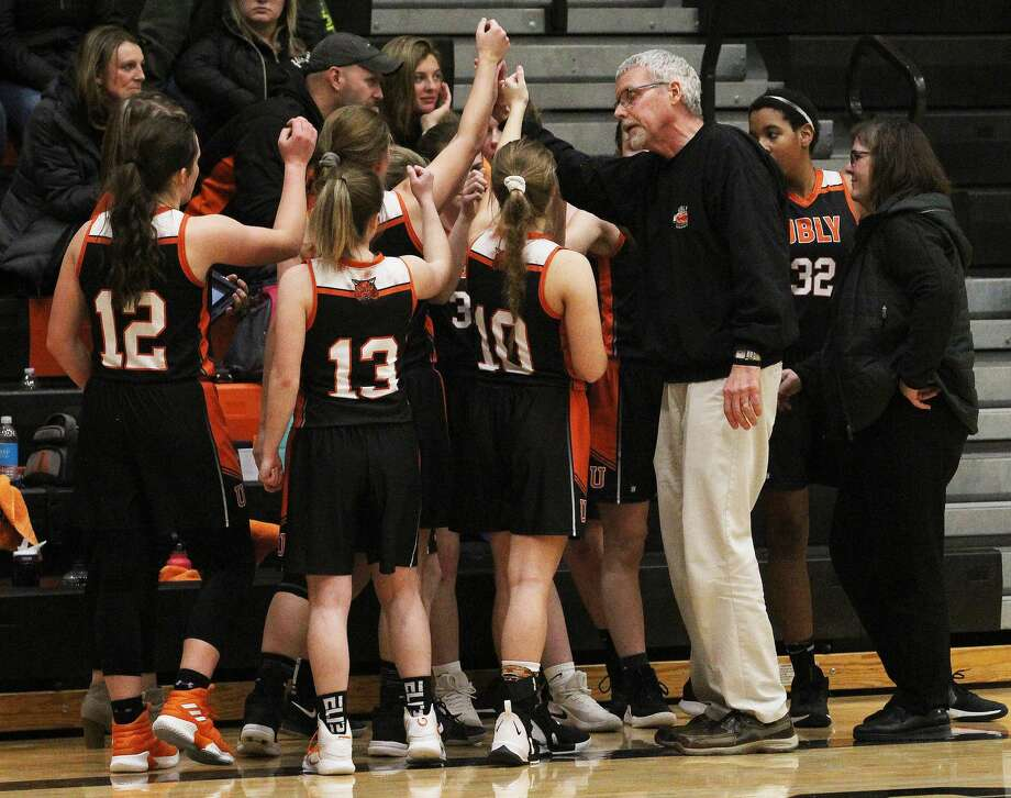 Ubly girls basketball Coach Joel Leipprandt said his players are devastated by the loss of their chance to win a regional championship and uncertainty over whether the game will be rescheduled. Photo: Tribune File Photo