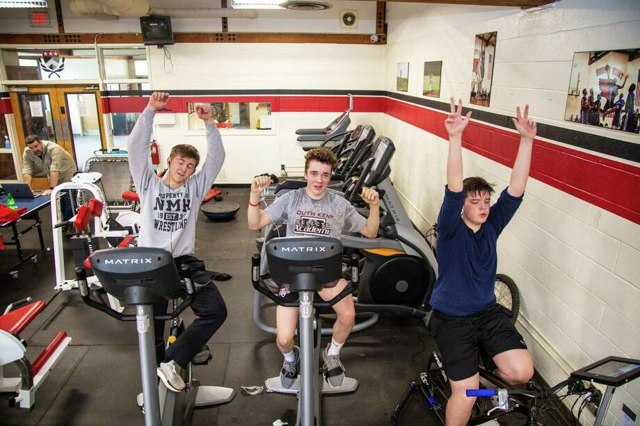 Students at South Kent School recently raised more than $3,600 to provide bicycles for those in developing nations through a 24-hour bike-a-thon. Photo: Contributed Photo / The News-Times Contributed