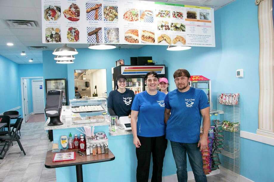 Altin and Daniela Mulla, owners of Taste of Greek, had a successful opening of their brick and mortar store on March 7 after closing their food truck on Jan. 25. Photo: Savannah Mehrtens/Staff Photo / Savannah Mehrtens/Staff Photo