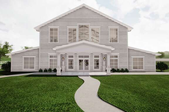 Renderings of new Tomball wedding and event venue Boxwood Manor, expected to open in the fall of 2020.