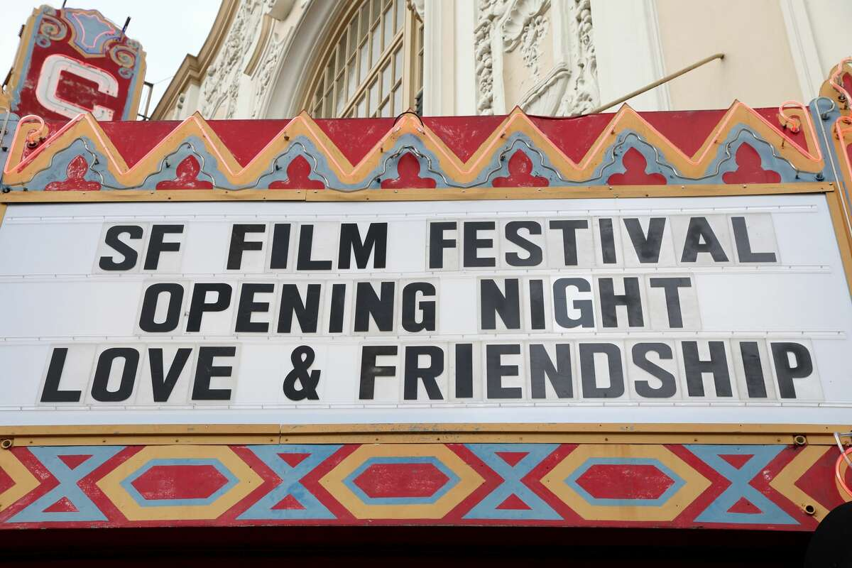 View of the marquee for the opening night of the 59th San Francisco International Film Festival at the Castro Theatre on April 21, 2016 in San Francisco.