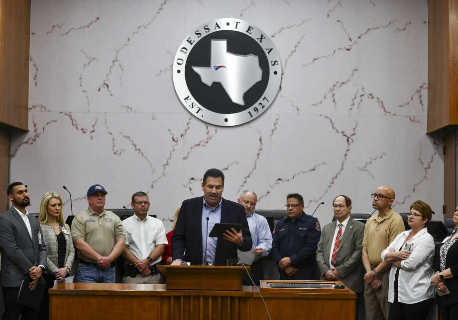 ECISD Superintendent Scott Muri talks about the district's response to the Coronavirus (COVID-19) on Friday, March 13, 2020 on the 5th floor of City Hall. Photo: Jacy Lewis/Reporter-Telegram