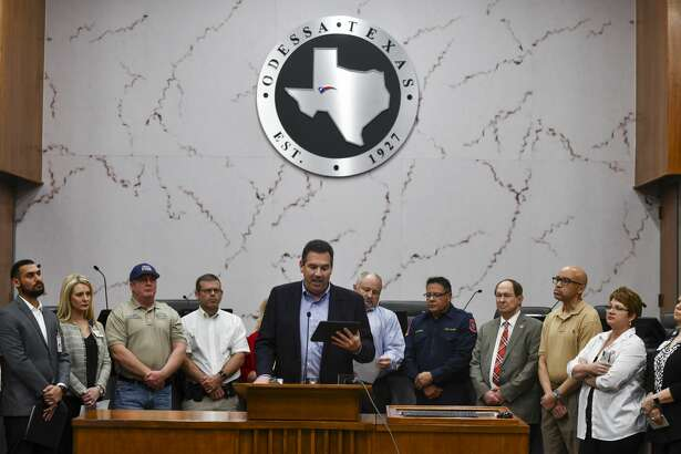 ECISD Superintendent Scott Muri talks about the district's response to the Coronavirus (COVID-19) on Friday, March 13, 2020 on the 5th floor of City Hall.