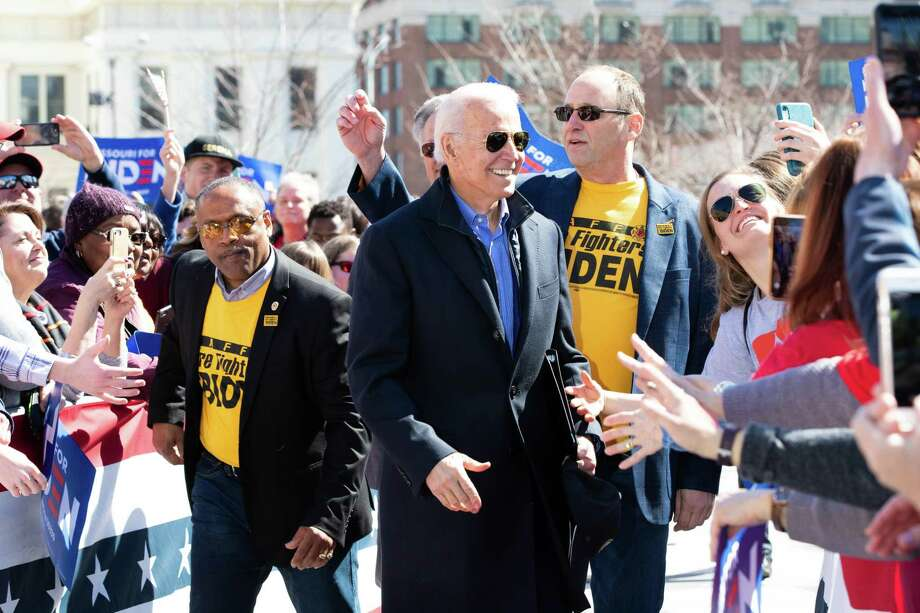 Vice President and Democratic presidential nominee Joe Biden speaks at a Get Out the Vote campaign rally on March 7, 2020 in St. Louis, Mo. (Lora Olive/Zuma Press/TNS) Photo: Lora Olive, MBR / TNS / Zuma Press