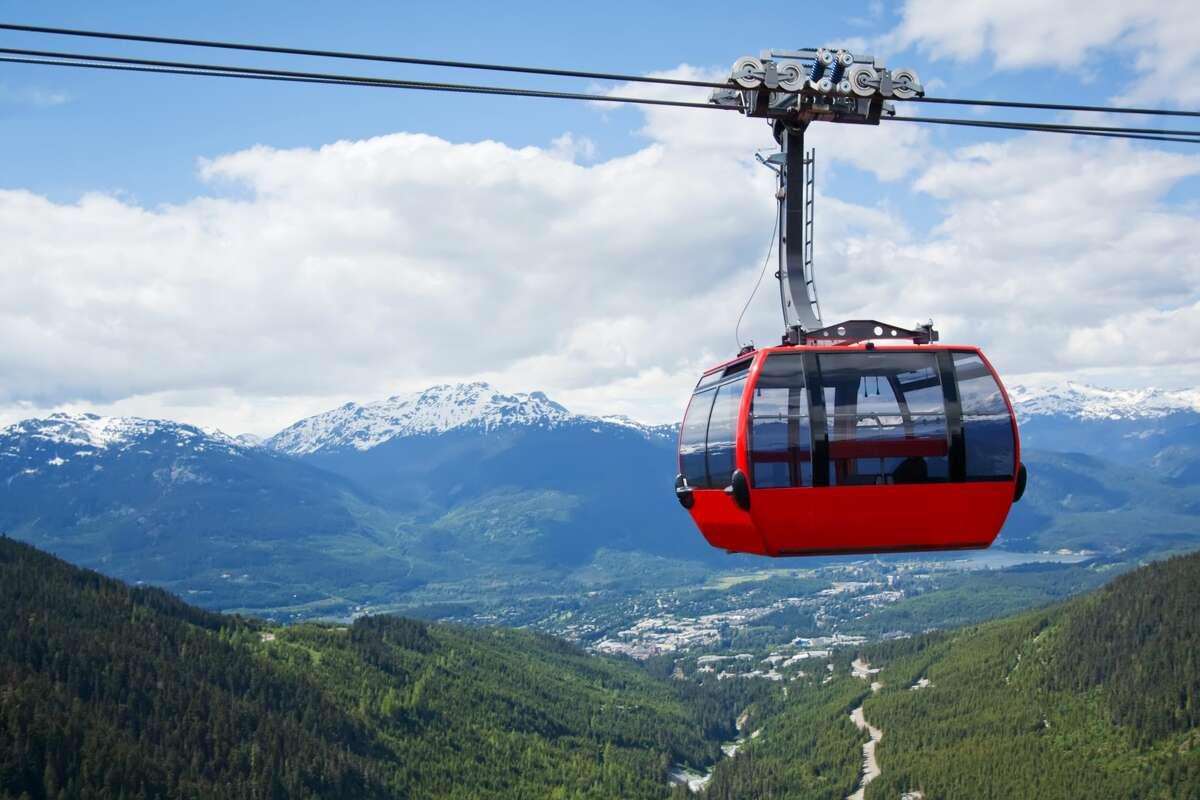 Aerial tram at Whistler Peak, Canada.