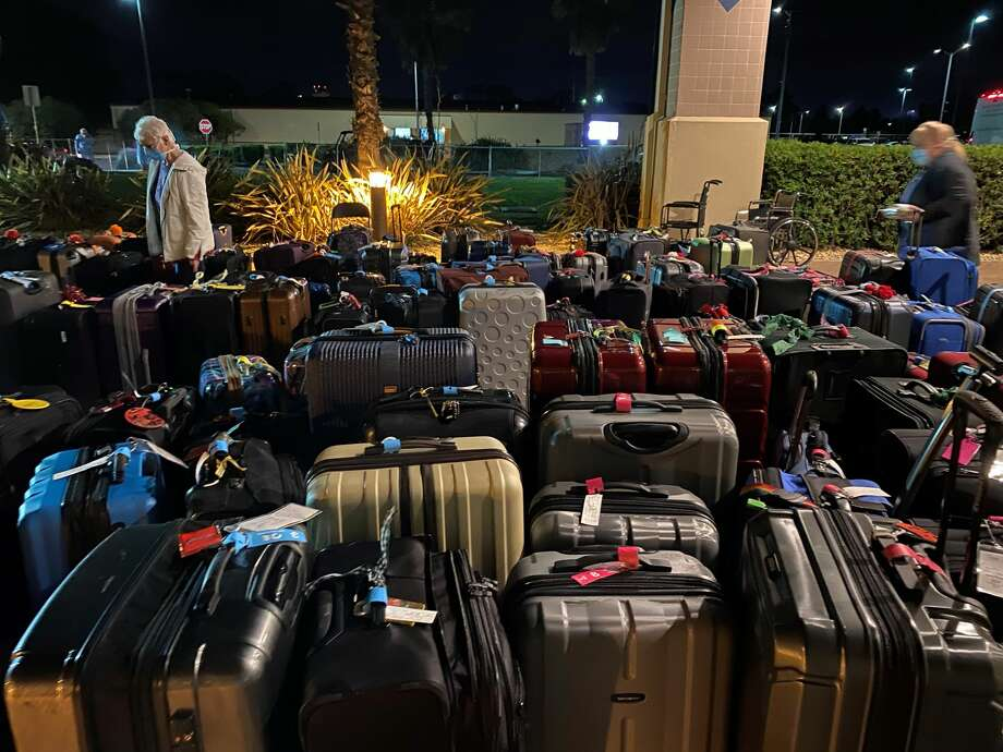 Hundreds of passengers from the Grand Princess cruise ship are under a 14-day quarantine at Travis Air Force Base in Fairfield, Calif. Photo: Courtesy