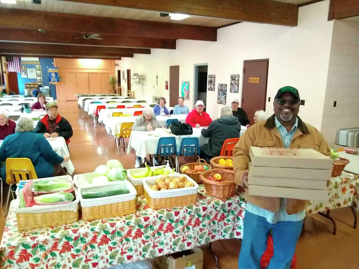 Friday's Census Awareness event in Copemish. Seniors came to play produce bingo, eat pizza, and get registered for the census. (Courtesy Photo)