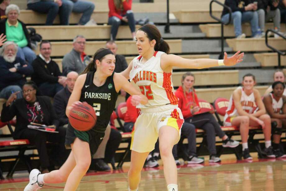 Riley Blair was among the three All-GLIAC players this season for Ferris women's basketball. (Pioneer photo/John Raffel)