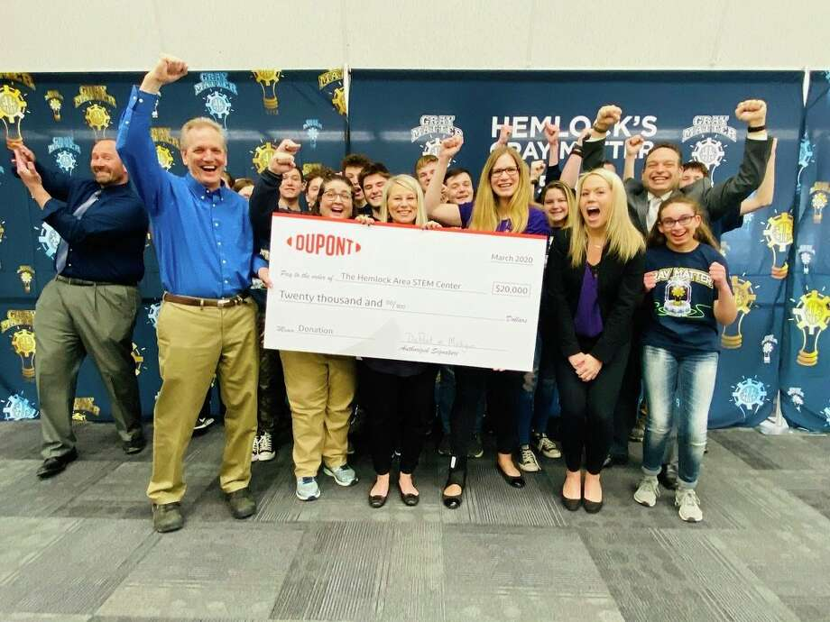 DuPont and the Hemlock Healthcare Industries Materials Site (HIMS) donated $20,000 toward Hemlock Public School District's new Hemlock Area STEM Center. (Photo provided)