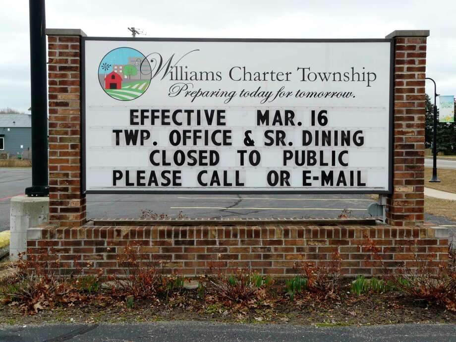 Williams Township offices close to public on Monday. (Photo by Jon Becker)