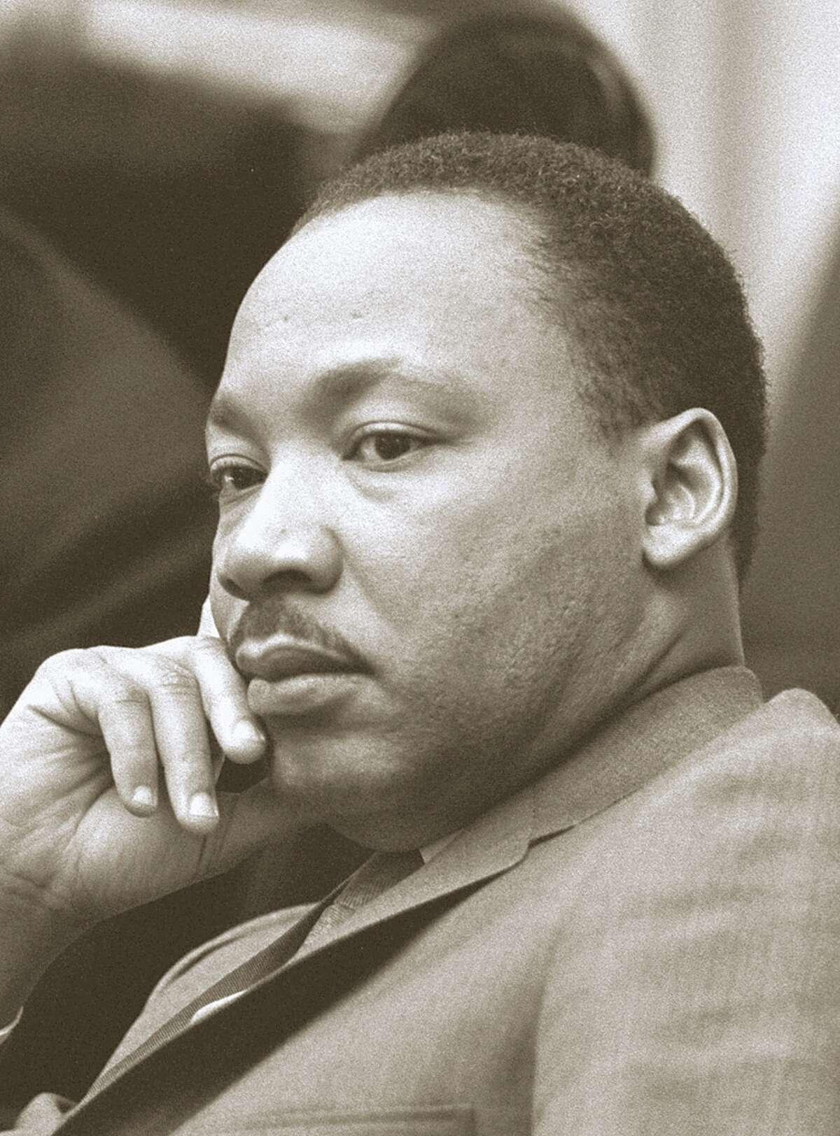 Location: Cabinet Room, White House, Washington, DC Description: L-R: President Lyndon B. Johnson, Rev. Dr. Martin Luther King, Jr.
