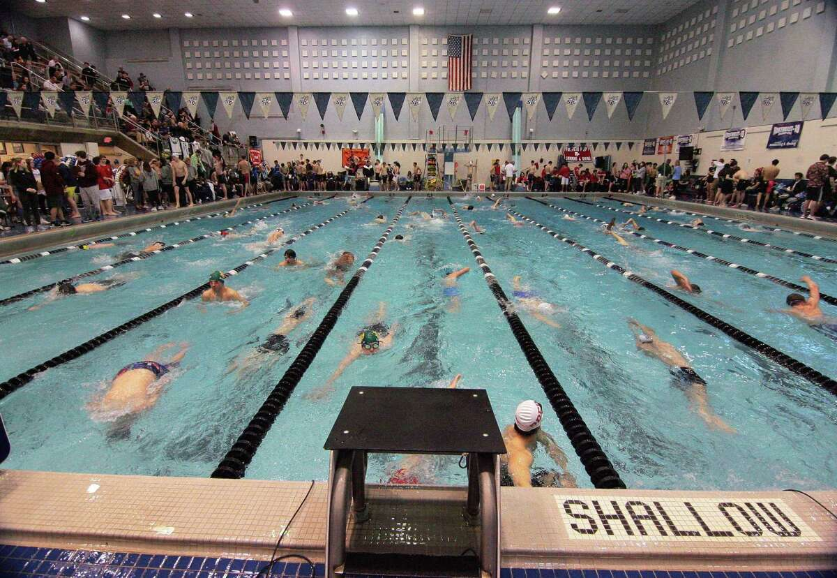 SCC Boys Swimming Championship action at Southern Connecticut State University in New Haven, Conn., on Wednesday Mar. 4, 2020.