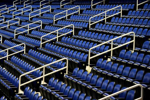 GREENSBORO, NORTH CAROLINA - MARCH 12: A general view of empty seats prior to the quarterfinals round of the 2020 Men's ACC Basketball Tournament at Greensboro Coliseum on March 12, 2020 in Greensboro, North Carolina. The remainder of the tournament will be played with only essential tournament personnel, limited school administrators and student-athlete guests, broadcast television and credentialed media members in attendance due to concerns over the possible spread of the Coronavirus (COVID-19). (Photo by Jared C. Tilton/Getty Images)