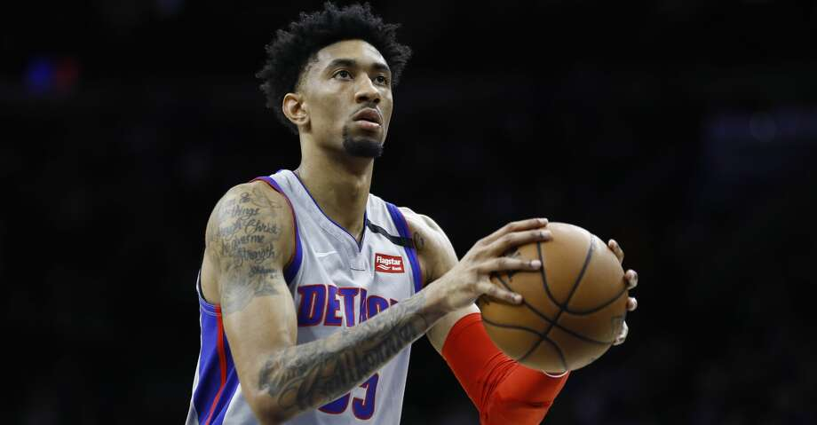 Detroit Pistons' Christian Wood plays during an NBA basketball game against the Philadelphia 76ers, Wednesday, March 11, 2020, in Philadelphia. (AP Photo/Matt Slocum) Photo: Matt Slocum/Associated Press
