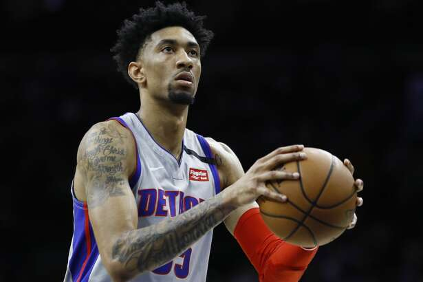 Detroit Pistons' Christian Wood plays during an NBA basketball game against the Philadelphia 76ers, Wednesday, March 11, 2020, in Philadelphia. (AP Photo/Matt Slocum)