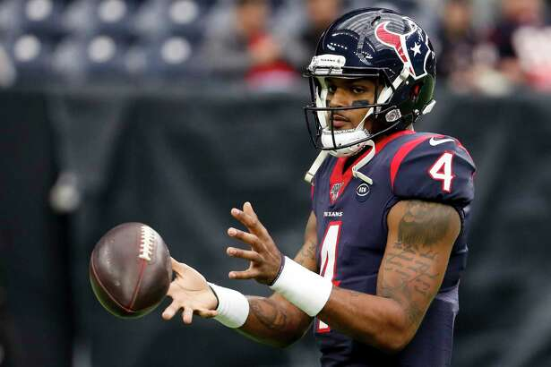 Deshaun Watson (4) is due for a big contract after a season in which the Texans' quarterback was selected to the Pro Bowl.