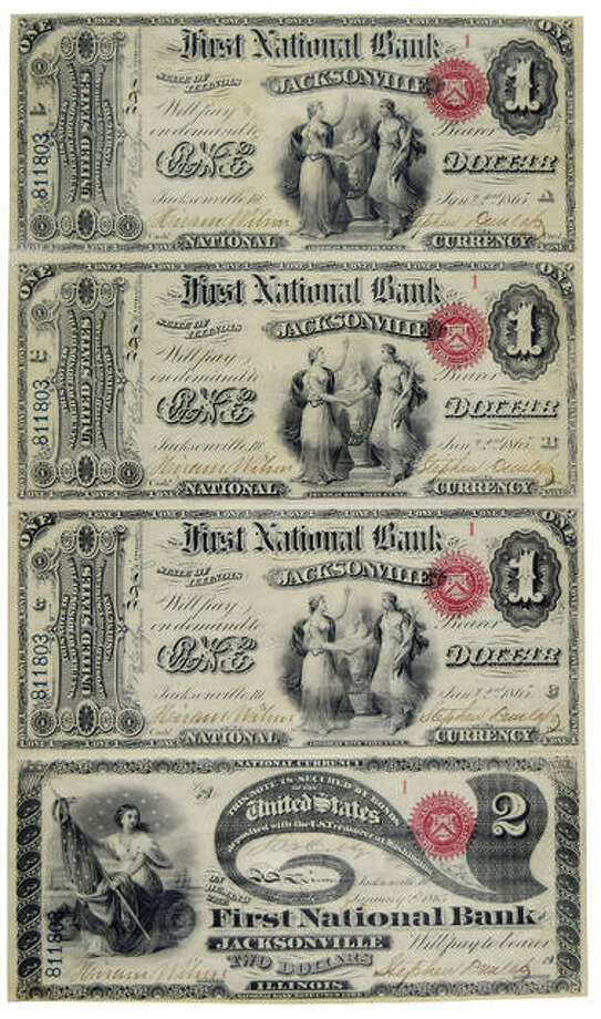 "They're calling it the the ""Holy Grail"" of uncut currency. This sheet is not only uncut but also the first in the series printed from First National Bank of Jacksonville and dating back to 1865. According to Paper Money Guaranty, based out of Sarasota, Florida, this sheet has an extremely high-grade quality and is very rare."