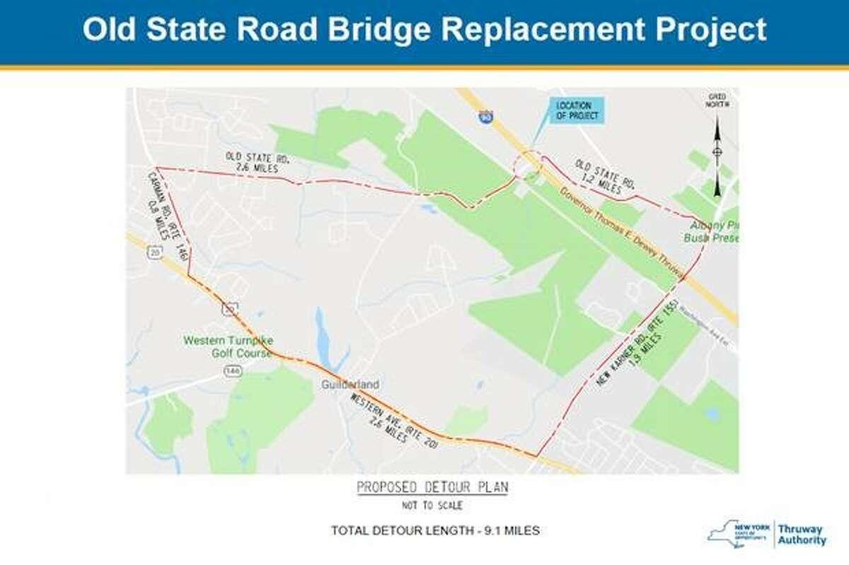 Location of upcoming bridge project