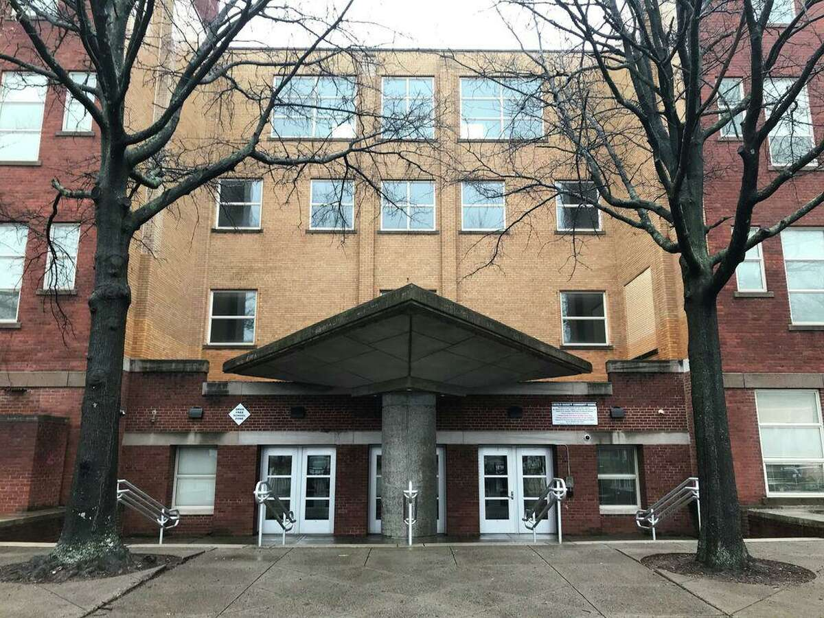 Lincoln-Bassett Community School vacant and locked on March 13, 2020 after being closed over coronavirus concerns in the state.