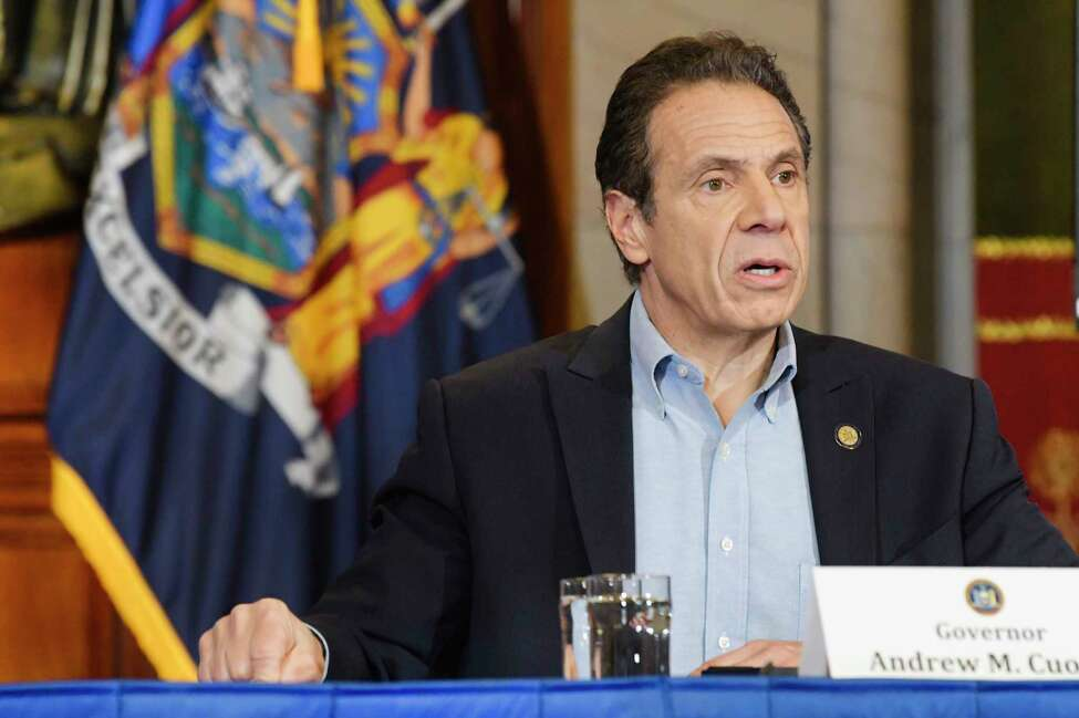 Governor Andrew Cuomo speaks at a press conference to talk about COVID-19 cases in the state on Sunday, March 15, 2020, in Albany, N.Y. (Paul Buckowski/Times Union)