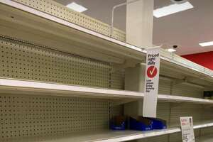 Complete aisles were bare at the Target store in Tukwila, Wash. on March 15, 2020.
