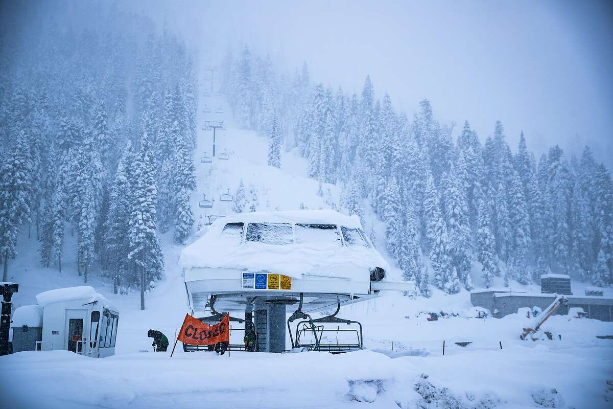 Squaw Valley base area on Sunday March 15, 2020. Most Lake Tahoe ski resorts have shut down due to coronavirus fears.