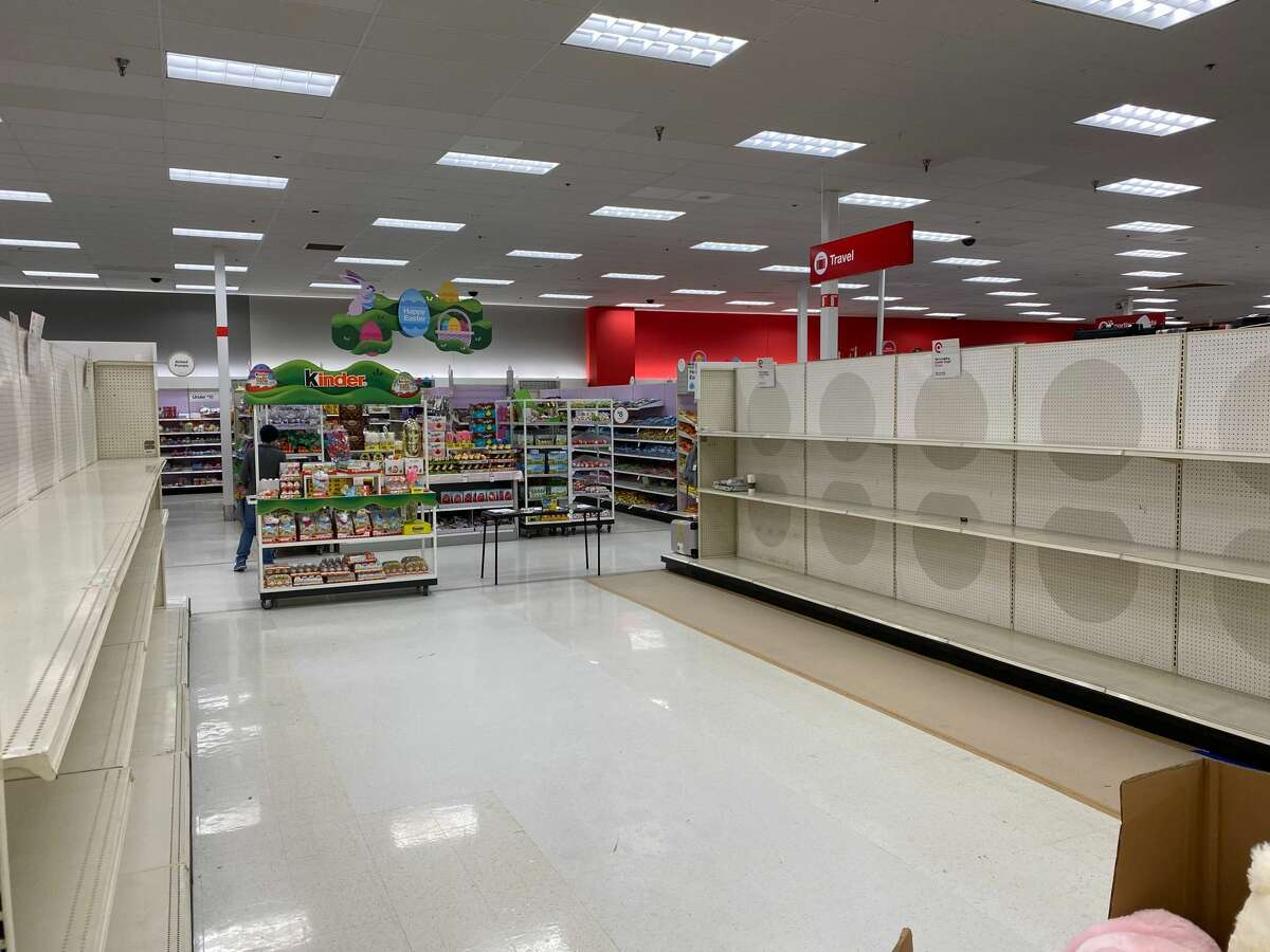 Empty aisles at theWestwoodVillage Target store in West Seattle, Wash. on March 15, 2020.