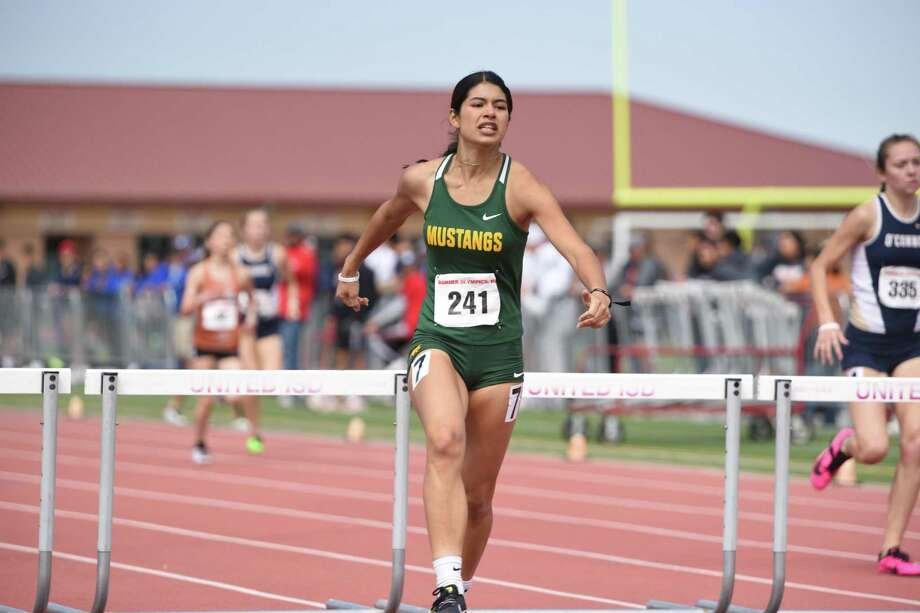 Nixon sophomore Marcela Rodriguez competes in the triple and long jump, and the 300-meter hurdles. Photo: Danny Zaragoza /Laredo Morning Times