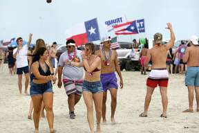 College students hit the beach in Port Aransas. Spring Break has hit Port Aransas in a big way and it will only get bigger during the coming weekend when University of Texas and Texas State will start their spring break, on Thursday, March 12, 2020.