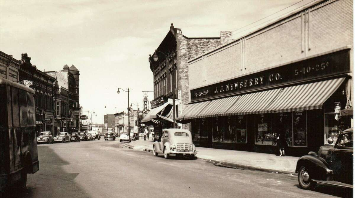 The J.J. Newberry Store was one of Manistee's popular stores on River Street in the 1940s.