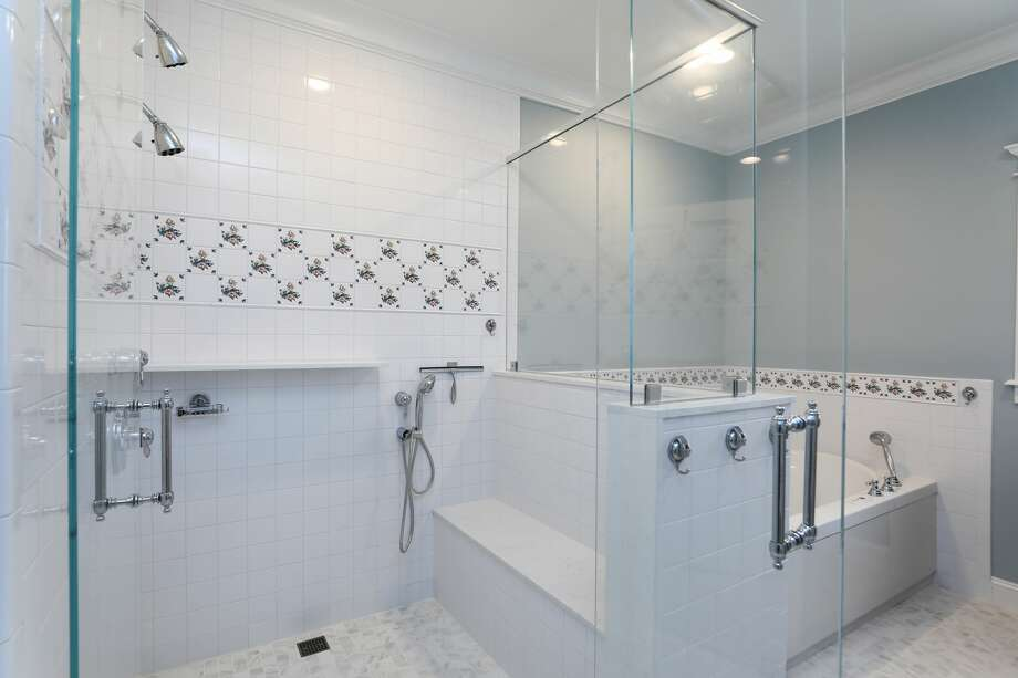 This master bathroom by Abbott Contracting features aging-in-place design. Photo: Courtesy Of Abbott Contracting