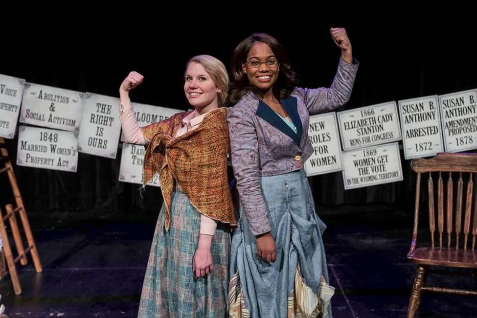 Kristyn Youngblood, left, and Danyel Fulton in the Capital Repertory Theatre production of