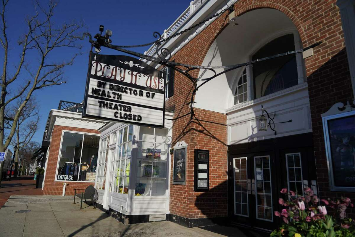 In March, marquee at the New Canaan Playhouse announces that the movie theater on Elm Street closed by order of the director of Health, one of many establishments closed to keep people apart in an effort to slow the spread of the Coronavirus. Tuesday, the operator announced they were closing.