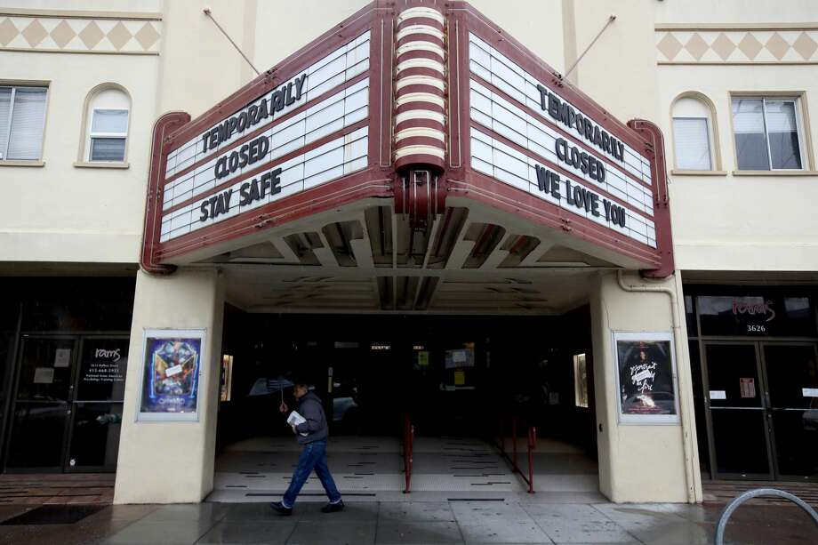 Many movie theaters and other public venues have closed their doors as people around the country are staying away from from large gatherings in an attempt to slow the spread of COVID-19. Photo: Justin Sullivan/Getty Images