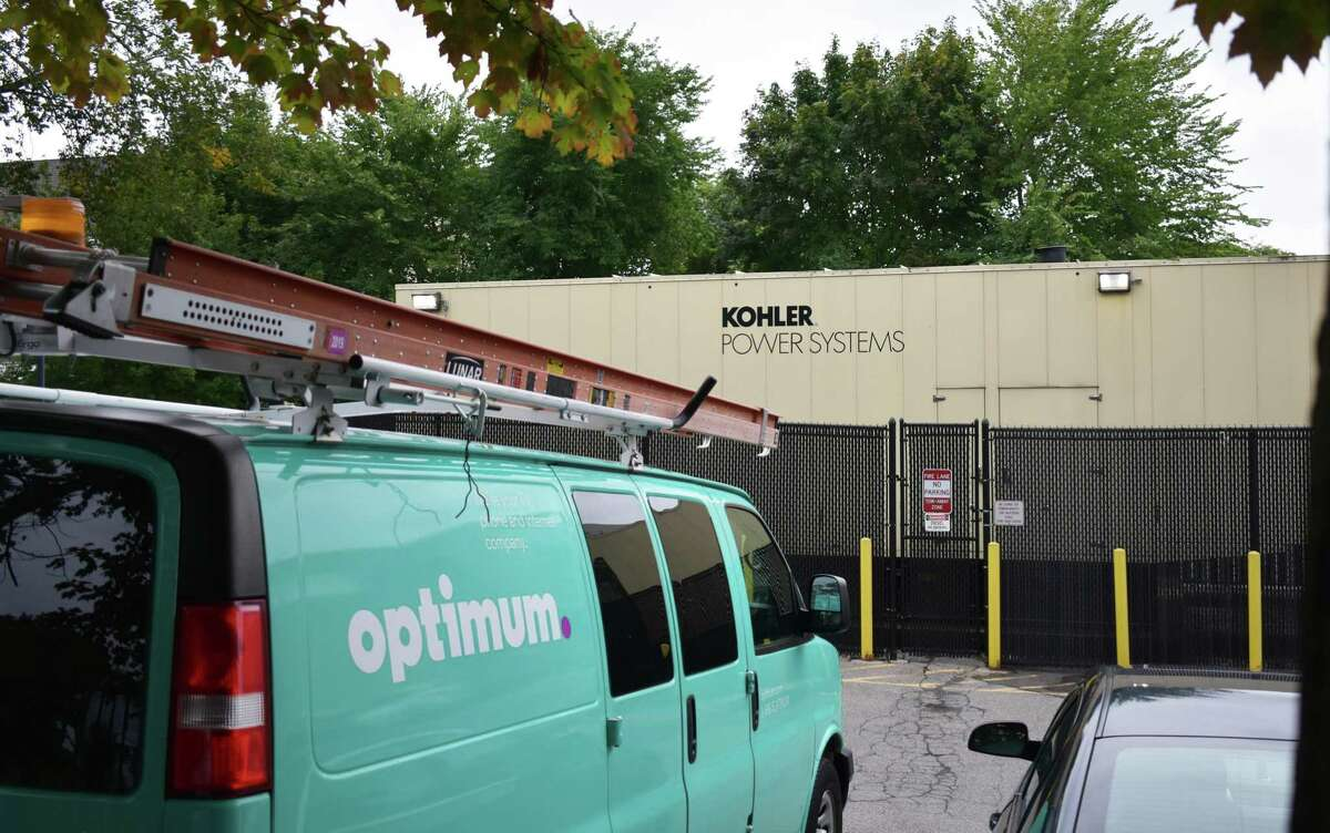 A Kohler power generator at the Altice USA offices in Norwalk, Conn. The company blames a power failure for knocking out service to large numbers of Connecticut and New York subscribers on Sept. 6, 2019.
