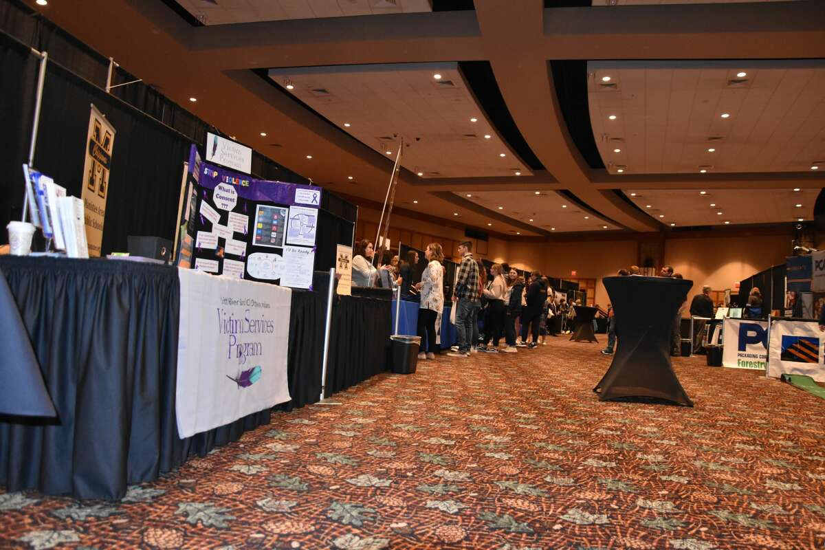 Manistee County students attended the Manistee Area Chamber of Commerce's Business and Career Expo at Little River Casino Resort March 12.