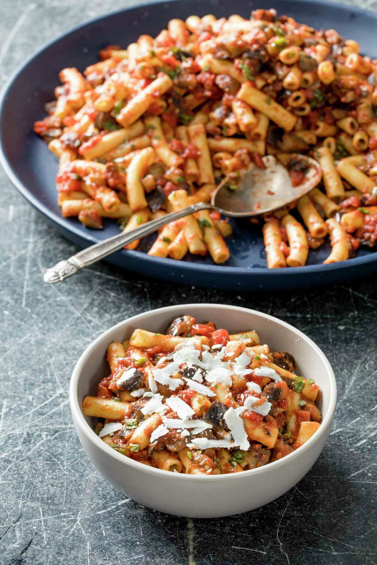 Pasta alla Norma is a recipe using minced anchovy fillets from