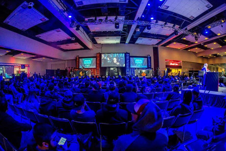 A large crowd was on hand for the Halo Classic, which was held Jan. 11-13, 2019 at the Gateway Convention Center in Collinsville. The event was presented by Edwardsville-based Ultimate Gaming Championship, which has announced it will partner with Southern Illinois University Carbondale to launch the Motorsports Gaming League. Photo: Keith Brake Photos
