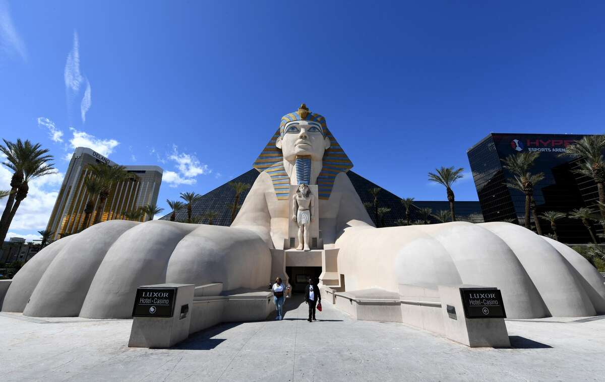 An exterior view shows Luxor Hotel and Casino as the coronavirus continues to spread across the United States on Mar. 14, 2020 in Las Vegas, Nevada.