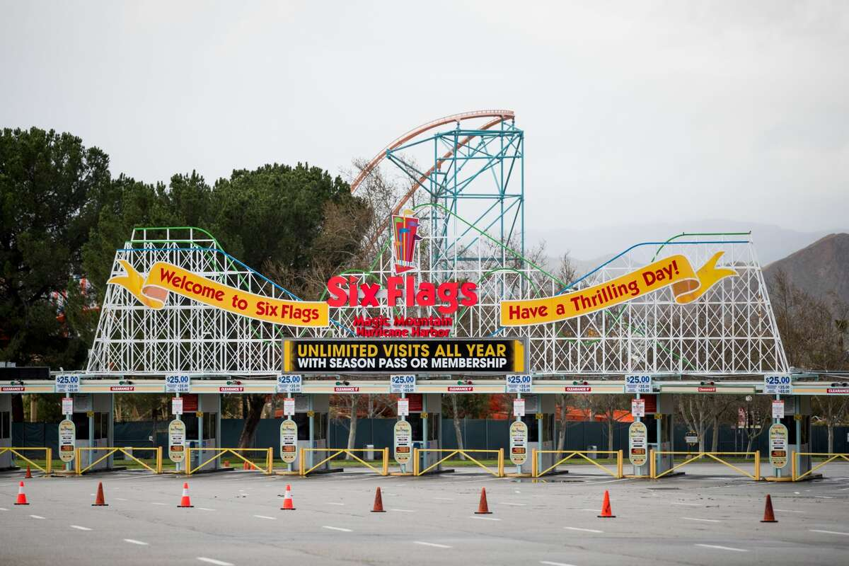Six Flags Magic Mountain is closed as the coronavirus continues to spread across the United States on Mar. 14, 2020 in Valencia.
