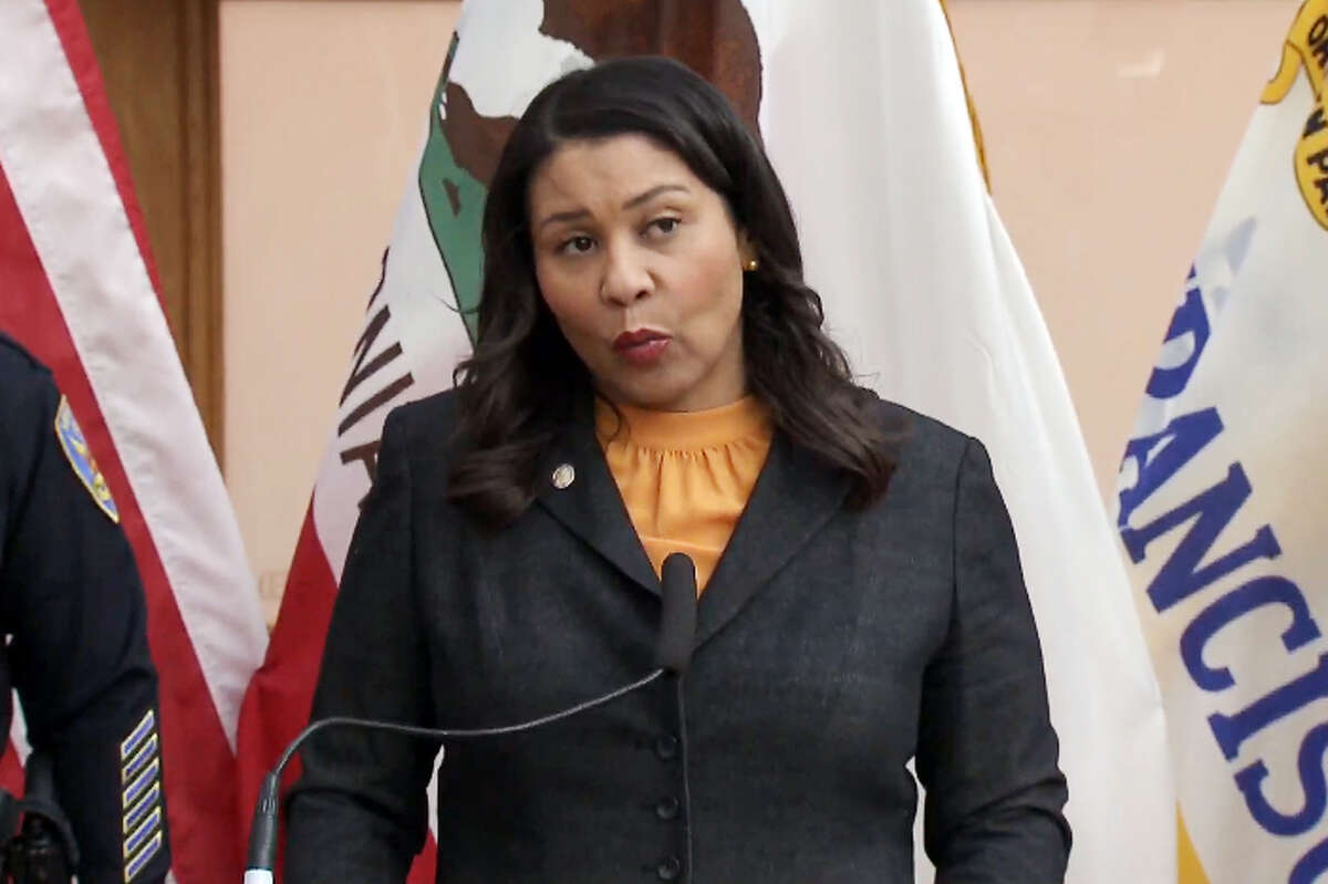 San Francisco Mayor London Breed announces a shelter-in-place order for the entire city amid coronavirus concerns on Monday, March 16, 2020.