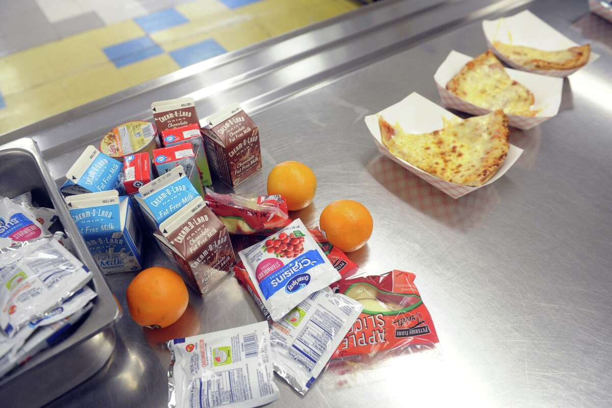 Following the closing of schools last week, Bridgeport began serving breakfast and lunch meals to go for city students on Monday.